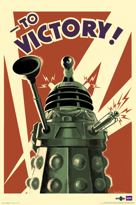 "Dalek To Victory Poster 24"" X 36"""