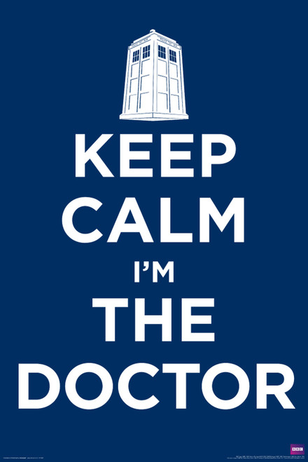 """Keep Calm I'm The Doctor Poster 24"""" X 36"""""""