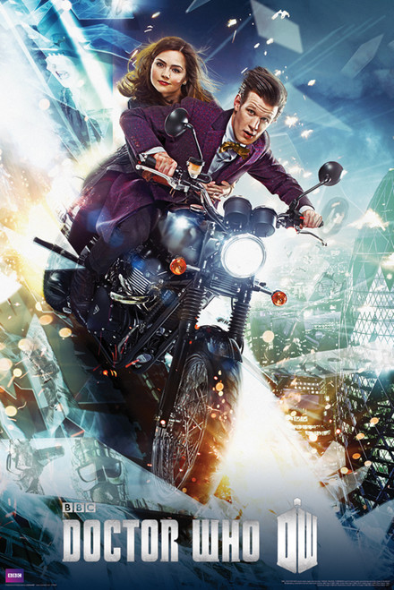 "The 11th Doctor and Clara On a Bike Poster 24"" X 36"""