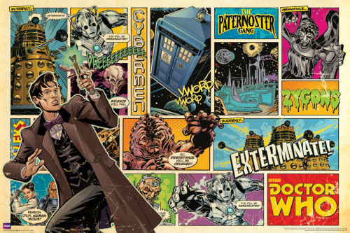 "Doctor Who Comic Cover Poster 36"" X 24"""