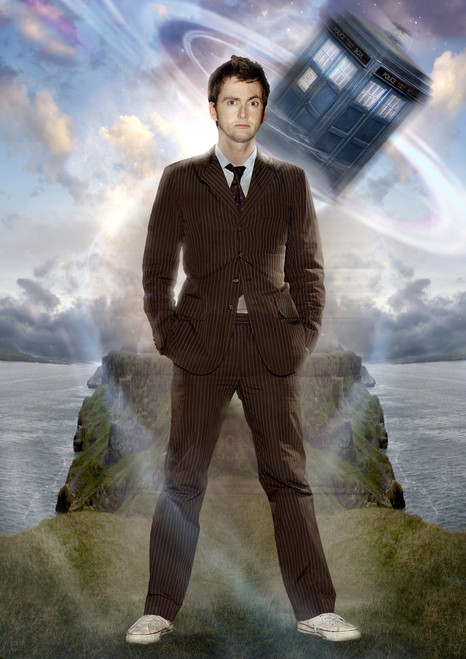 10th Doctor and Tardis Print