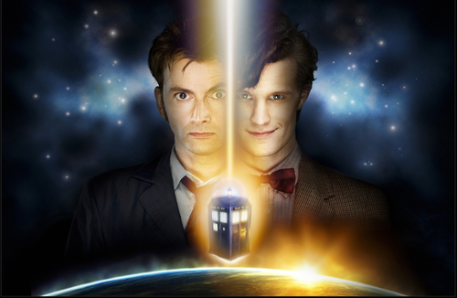 10th and 11th Doctor Regeneration Print