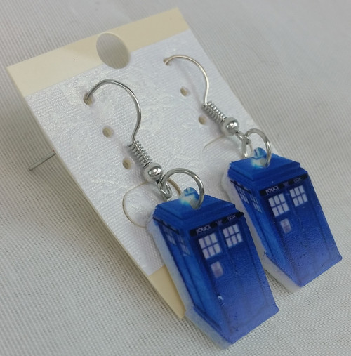 Tardis Hard Enamel Earrings