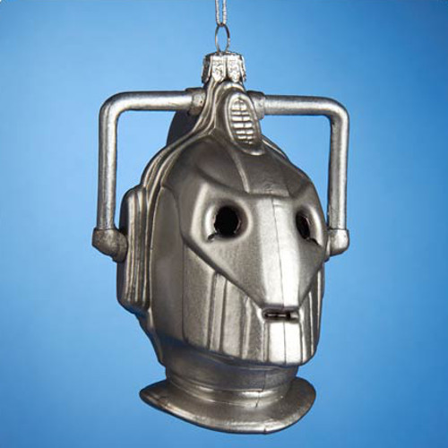Cyberman Christmas Glass Ornament