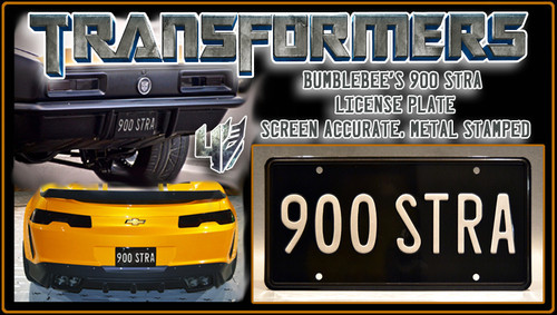 "License Plate - TRANSFORMERS - ""900 STRA"""