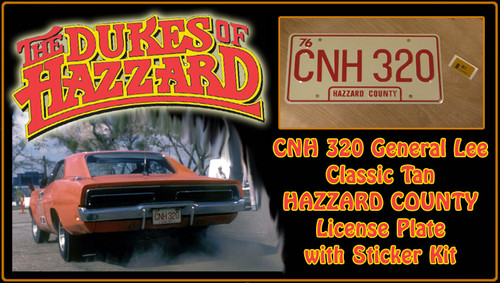 """License Plate - The DUKES of HAZZARD- """"CNH 320"""""""