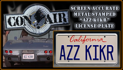 "License Plate - CON AIR- ""AZZ KIKR"""