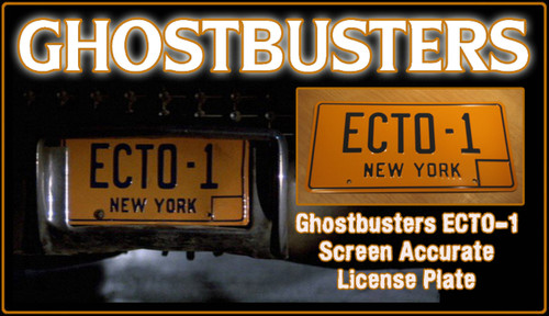 "License Plate - GHOSTBUSTERS- ""ECTO-1"""