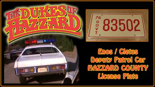 "License Plate - The DUKES of HAZZARD - ""83502"""