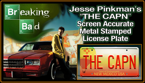 "License Plate - BREAKING BAD - ""THE CAPN"""
