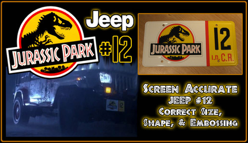 License Plate - JURASSIC PARK - Jeep 12