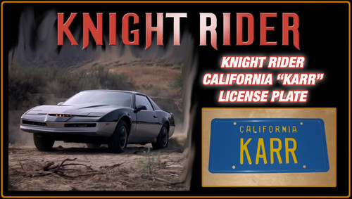 "License Plate - KNIGHT RIDER - ""KARR"""
