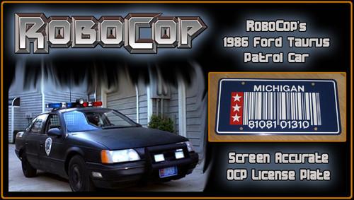 License Plate - ROBOCOP - RoboCop's Patrol Car