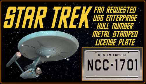 License Plate - STAR TREK - NCC-1701