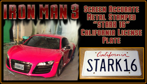 "License Plate - IRON MAN 3 - ""STARK16"""
