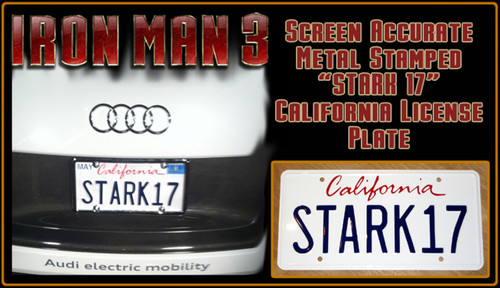 "License Plate - IRON MAN 3 - ""STARK17"""
