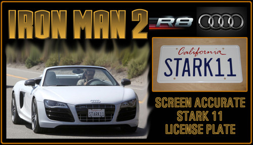 "License Plate - IRON MAN 2 - ""STARK11"""