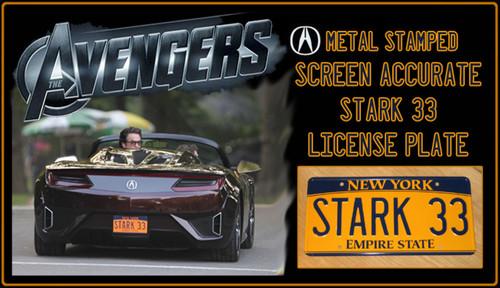 """License Plate - The AVENGERS - """"STARK133"""""""