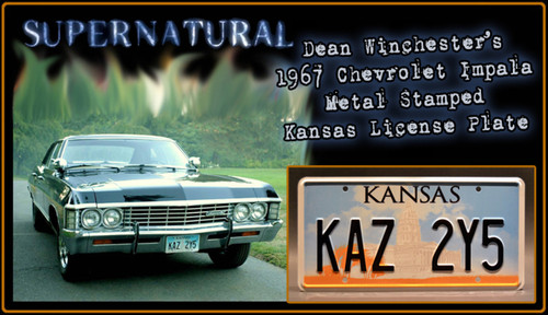 "License Plate - SUPERNATURAL - ""KAZ 2Y5"""