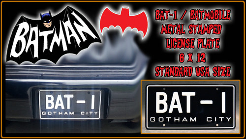 "License Plate - BATMAN - ""BAT-I"""