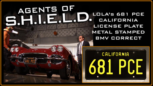 "License Plate - Agents of S.H.I.E.L.D. - ""681 PCE"""