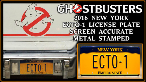 """License Plate - GHOSTBUSTERS- """"ECTO-1"""" (2016)"""