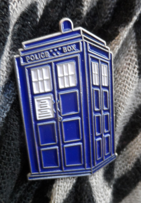 TARDIS Large Enamel Pin