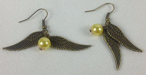 Golden Snitch Dangle Earrings