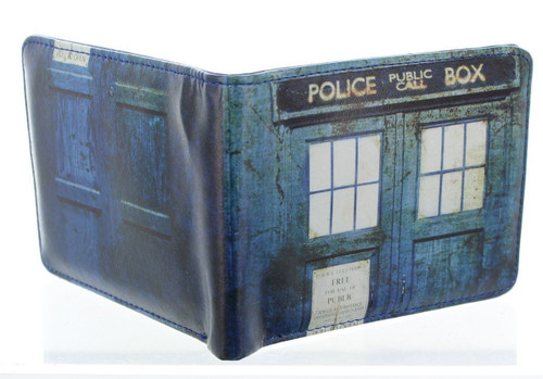 TARDIS Distressed Bi-Fold Wallet