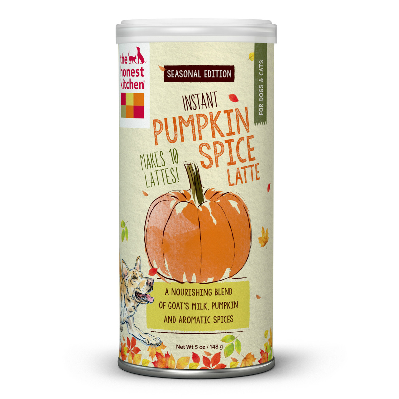 The Honest Kitchen Holiday Pumpkin Spice Latte 5 Ounces - TreatBuddy