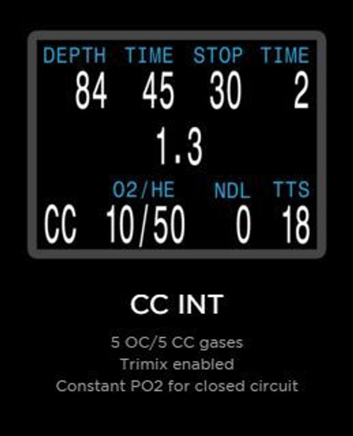 Shearwater Perdix Dive Computer - Closed Circuit Int Mode