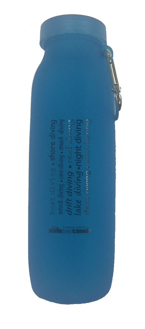 Silicone Water Bottle - Blue