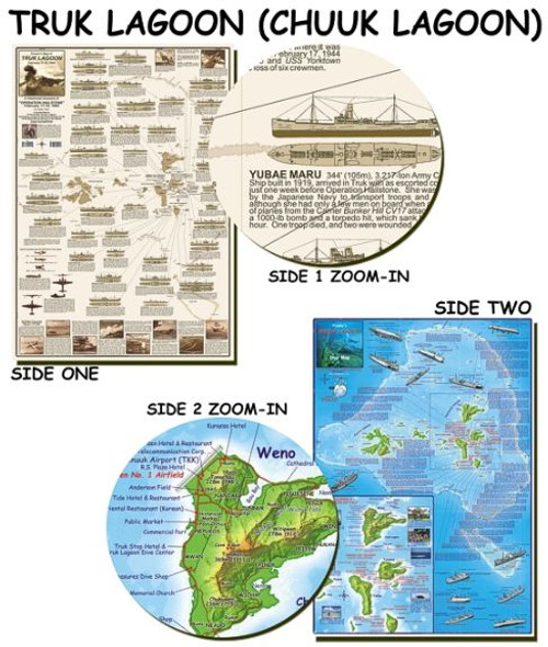 Truk Lagoon - Franko Dive Map