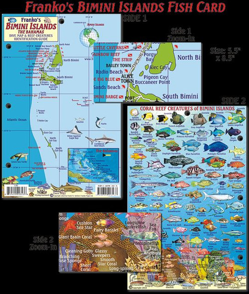 Waterproof Fish ID Card & Map - Bimini Islands