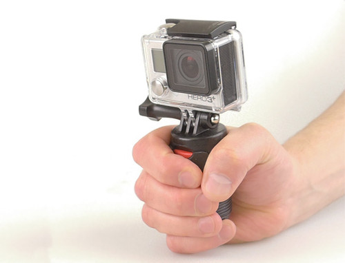 Flex-Connect Go Pro Mount Adapter Combined with Flex-Connect Grip