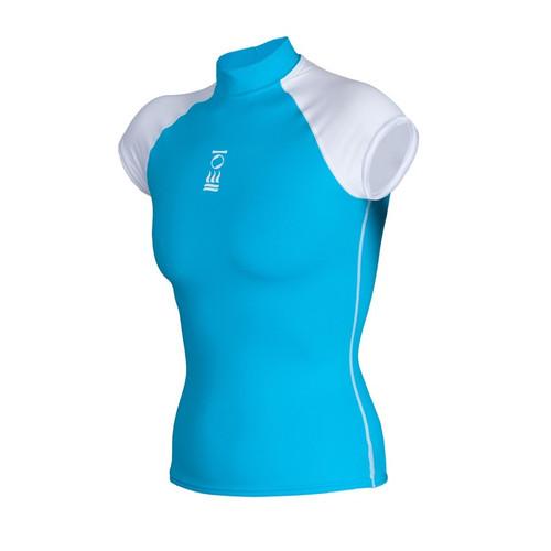 Short-Sleeve Rashguard - Aqua Front