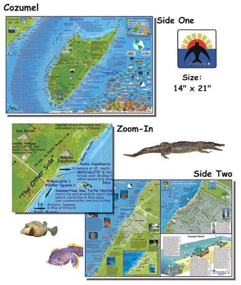 Cozumel Dive Map Scuba Gear Canada