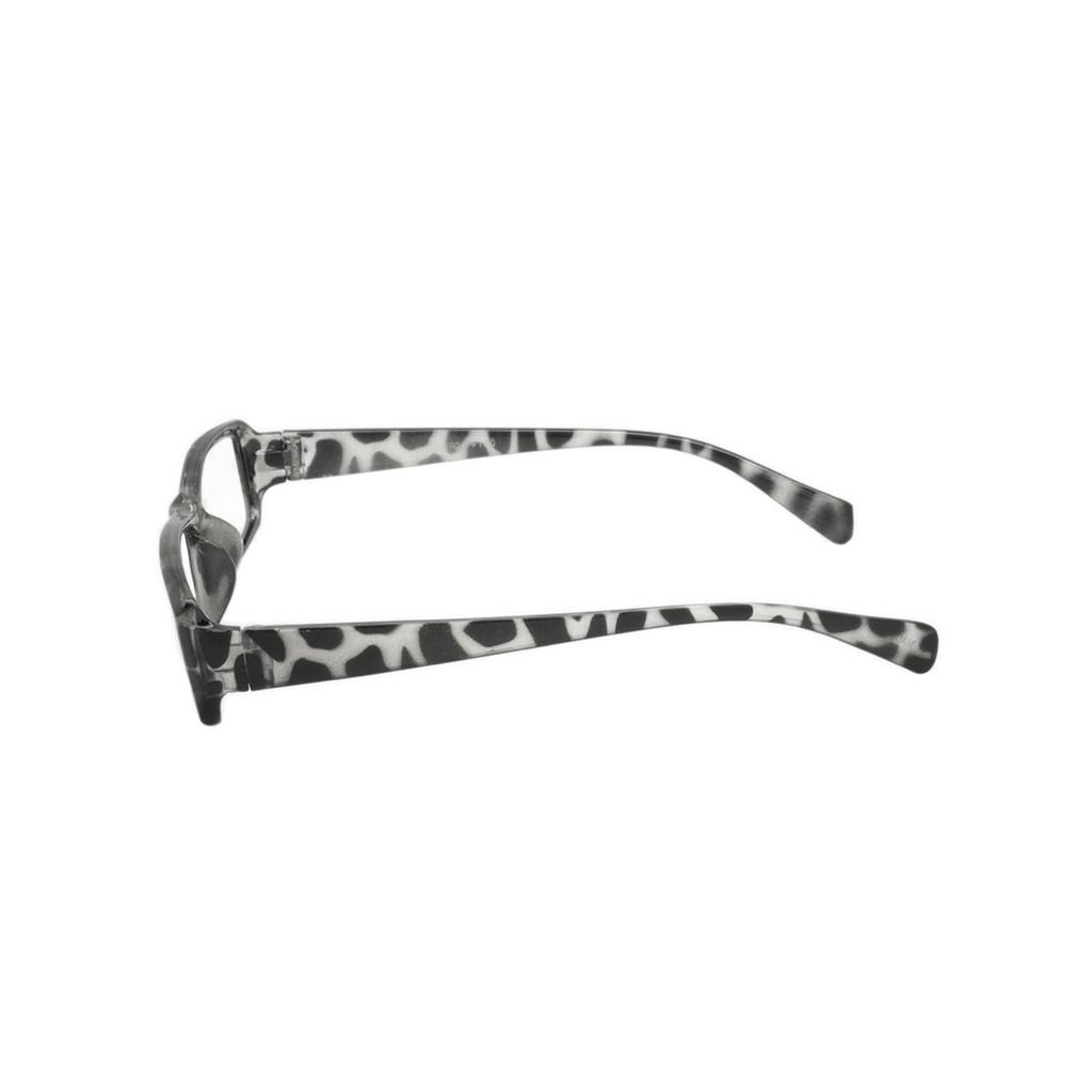 Animal Print Readers Clear Black Spot Frame Clear Black Spot Temple Shark Eyes ASTR24 A-S