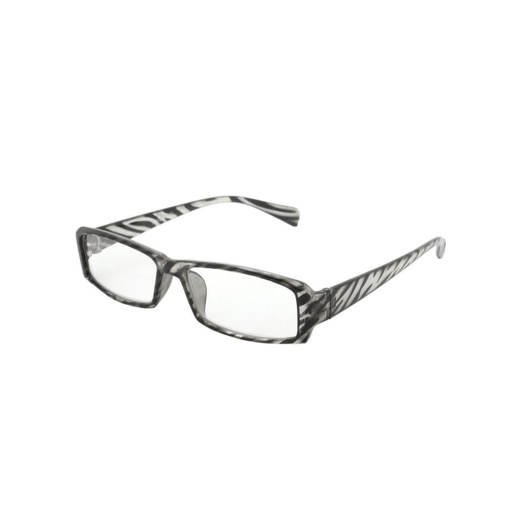 Animal Print Readers Clear Black Stripe Frame Clear Black Stripe Temple Shark Eyes ASTR24 C