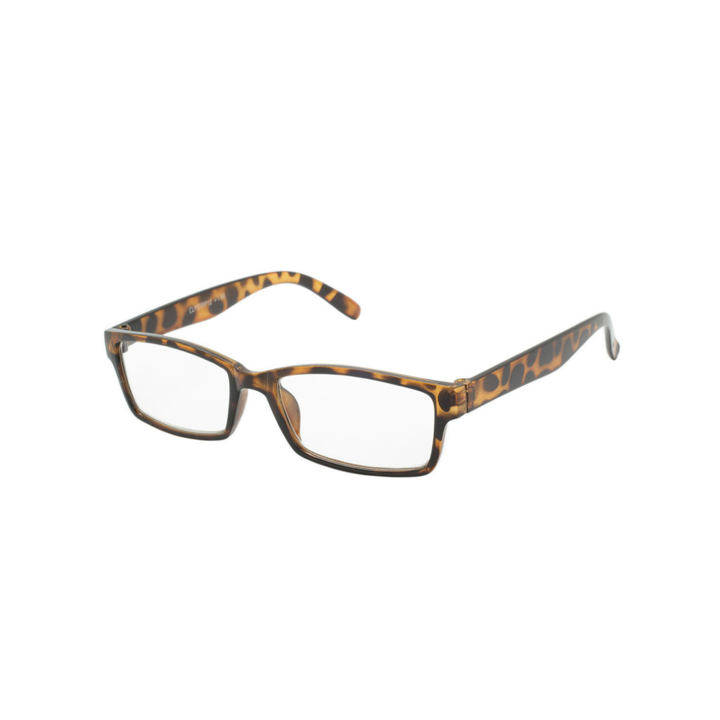 Readers Polished Tortoise Frame Polished Tortoise Temple Shark Eyes CLPSTRP12 B