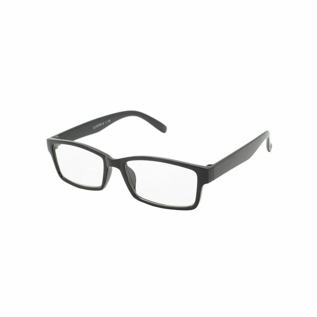 Readers Polished Black Frame Polished Black Temple Shark Eyes CLPSTRP12 A