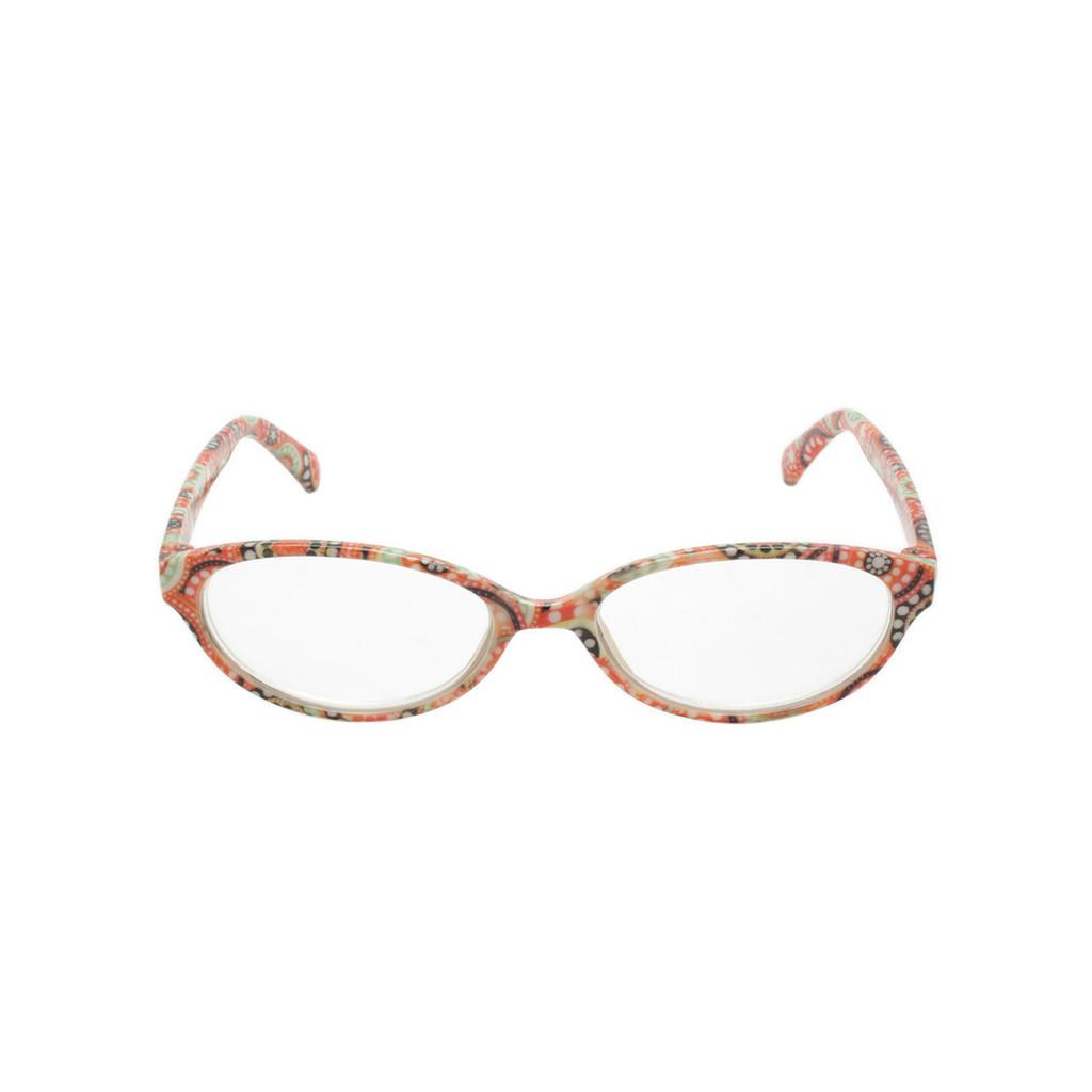 Ladies Georgio Caponi Retro Readers Orange Red Black Frame Shark Eyes CRSR24 A-F
