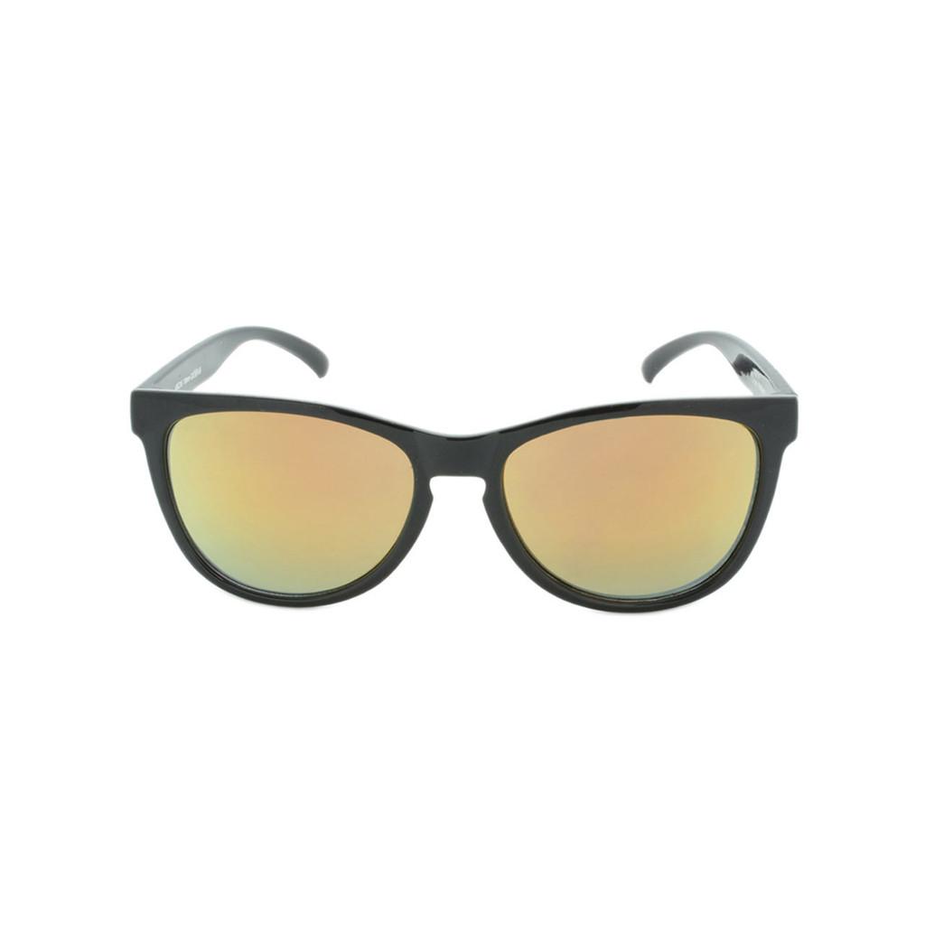 Hangten Kids Sunglasses Cove Collection Shiny Black Yellow Revo Lens Hangten Icon Logo Wholesale HTK09A-F