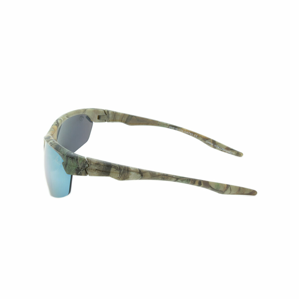 HangTen Kids RealTree Sunglasses Yellow Mirror Lens Camo Frame Camo Temple Shark Eyes HTK12BRTWC A-S