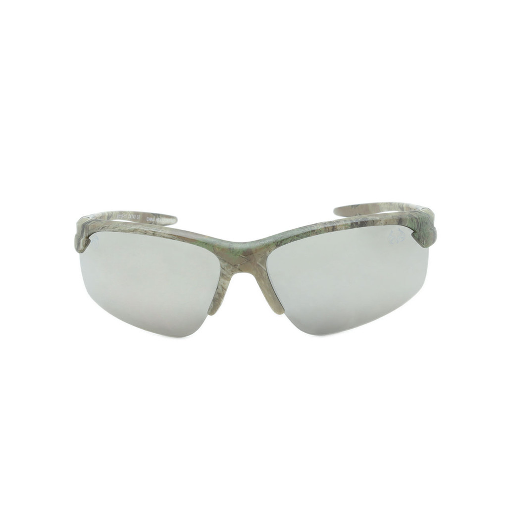 HangTen Kids RealTree Sunglasses Silver Lens Camo Frame Camo Temple Shark Eyes HTK12CRTWC A-F