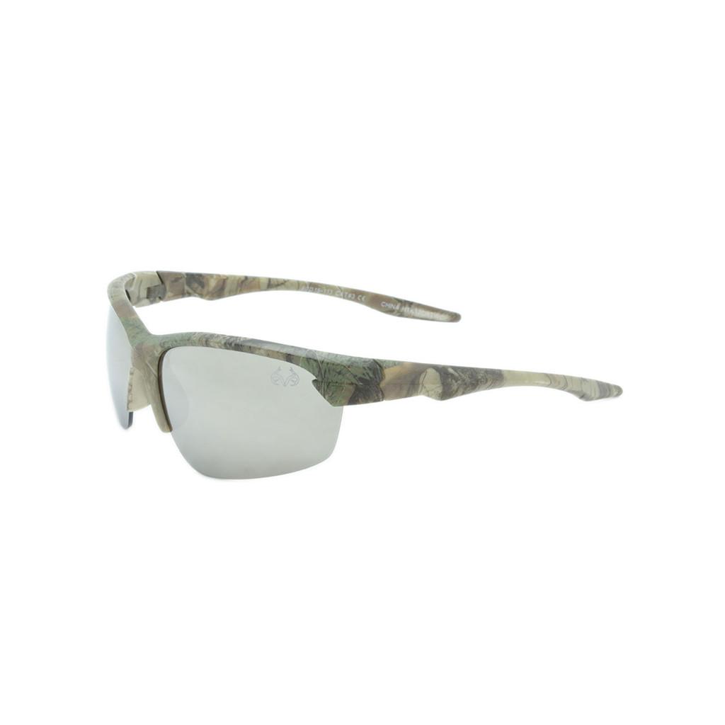 HangTen Kids RealTree Sunglasses Silver Lens Camo Frame Camo Temple Shark Eyes HTK12CRTWC A