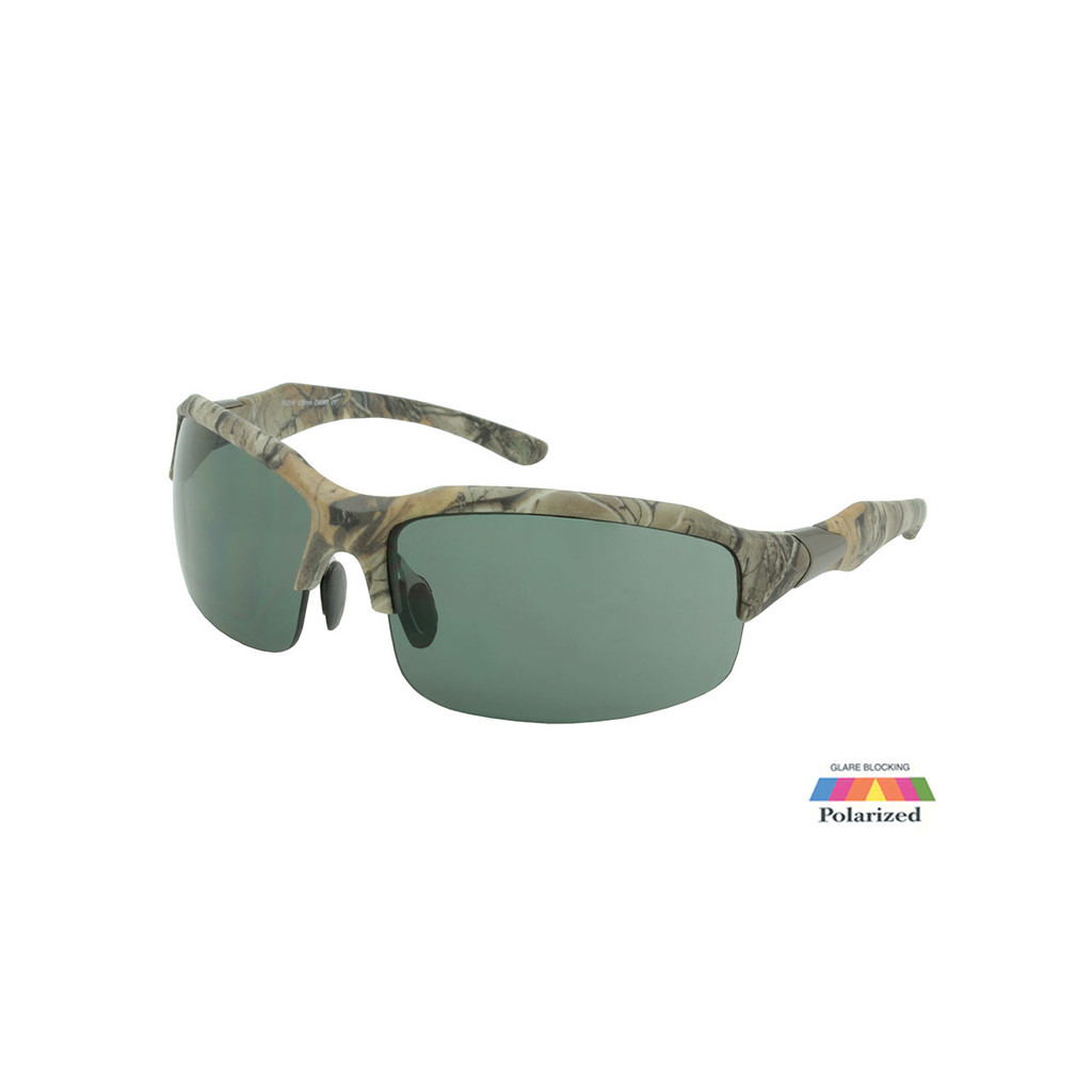 Sport Sunglasses RealTree Camo Frame G15 Polarized Lens Gunmetal Temple RXS07RTPOL