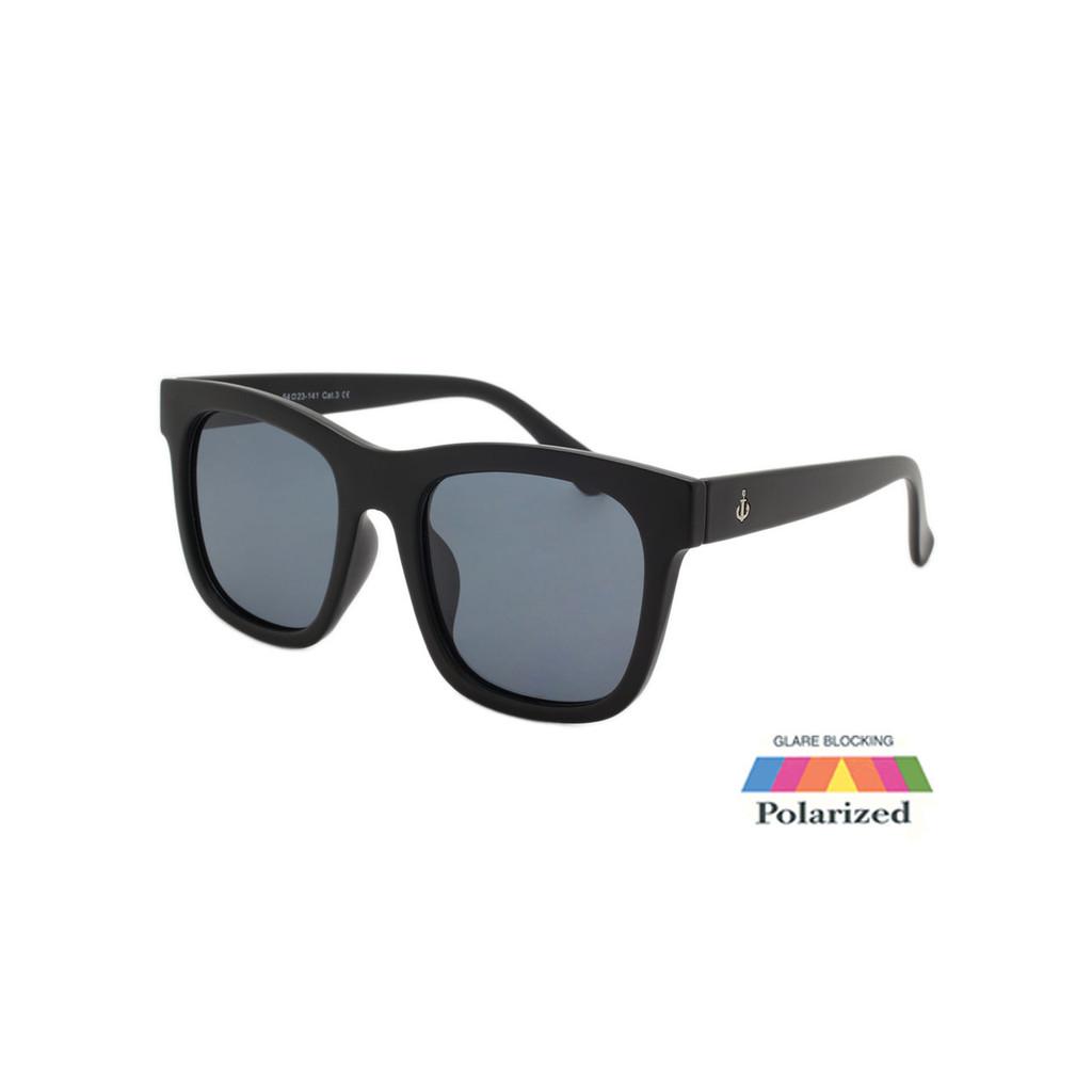 Unisex Coldwater Logo Sunglasses Smoke Polarize Lens Matte Black Frame Matte Black Temple Shark Eyes CWS1 C