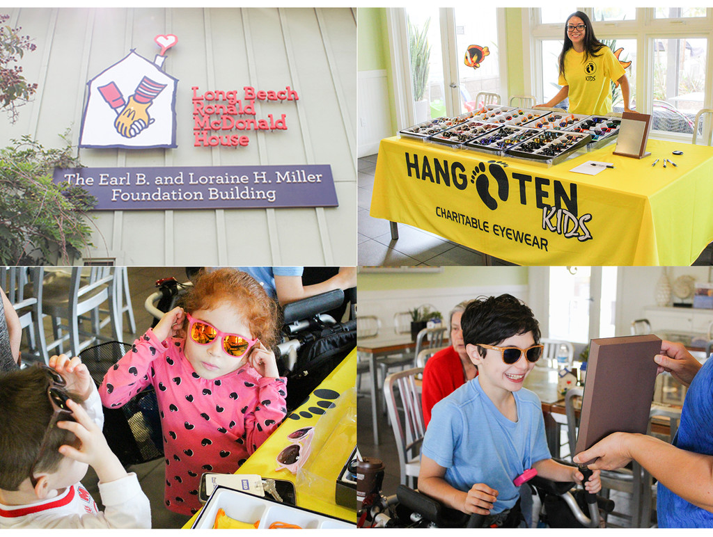 Hand Ten Kids Sunglasses & Long Beach Ronald McDonald House Foundation.