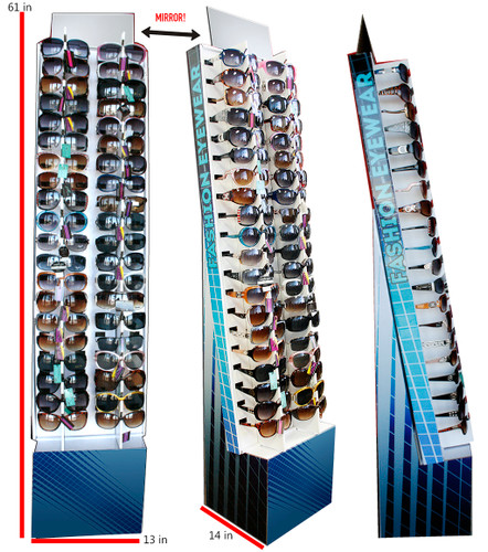 40 PIECES SUNGLASSES CARDBOARD FLOOR DISPLAY
